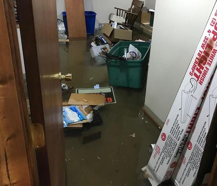 Storm Damage Flooded Basement from Storm